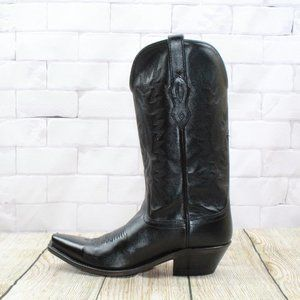 Old West Snip Toe Western Leather Boots Size 7